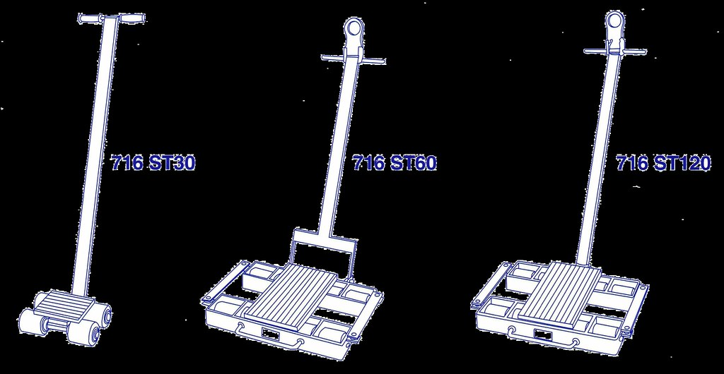 Machinery Skates - Steerable Skates