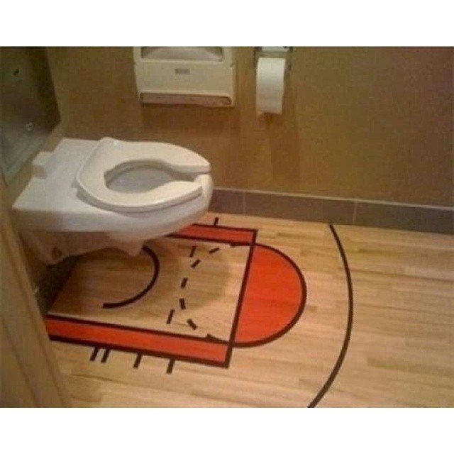 The best nba basketball court ever trying shooting a 3 p for Diy sport court