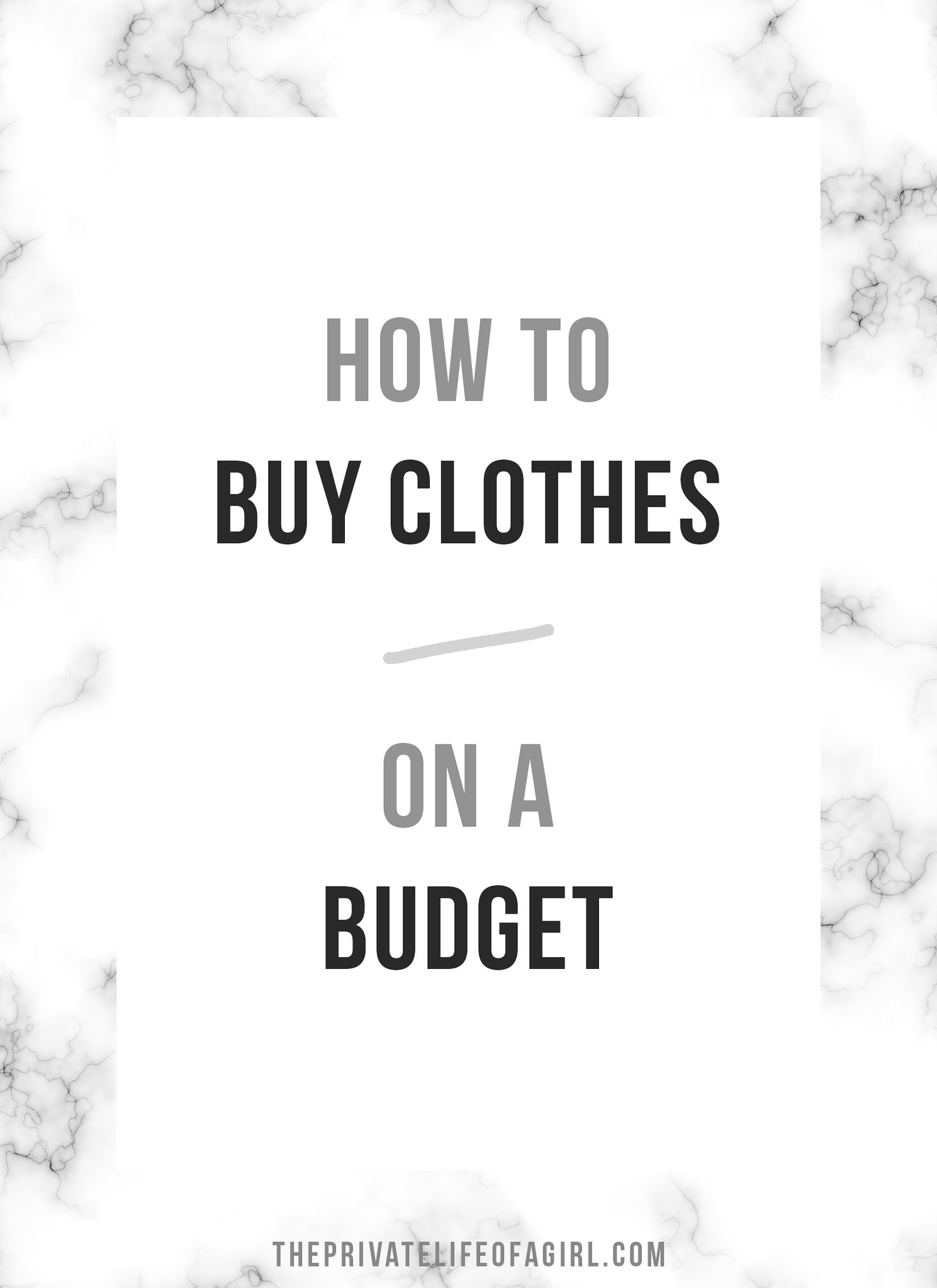 How To Build A Minimal Wardrobe On A Budget
