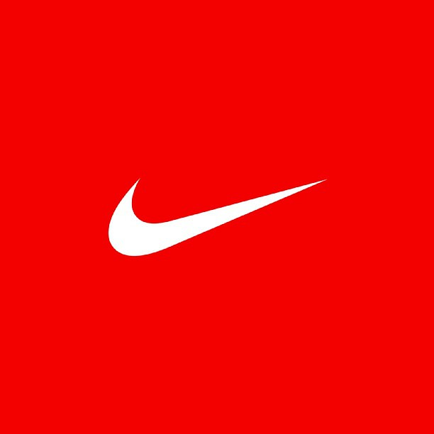 gallery for small white nike sign