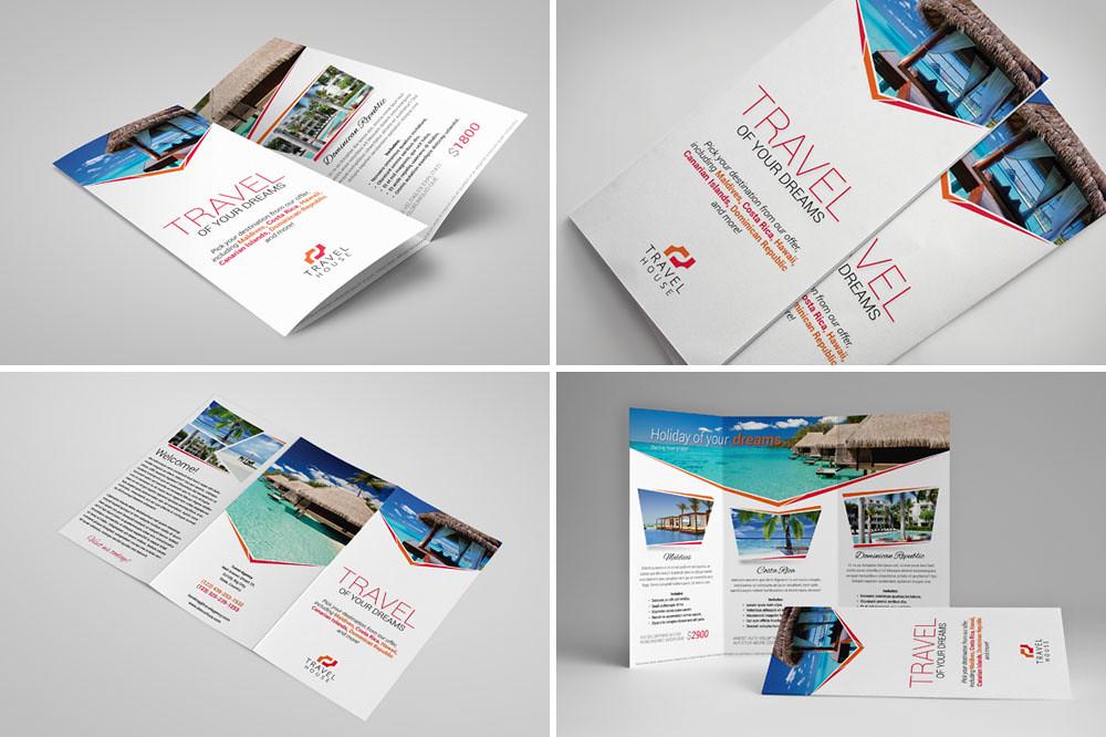 Tri fold brochure 18 travel agency brochure template for Tri fold travel brochure template