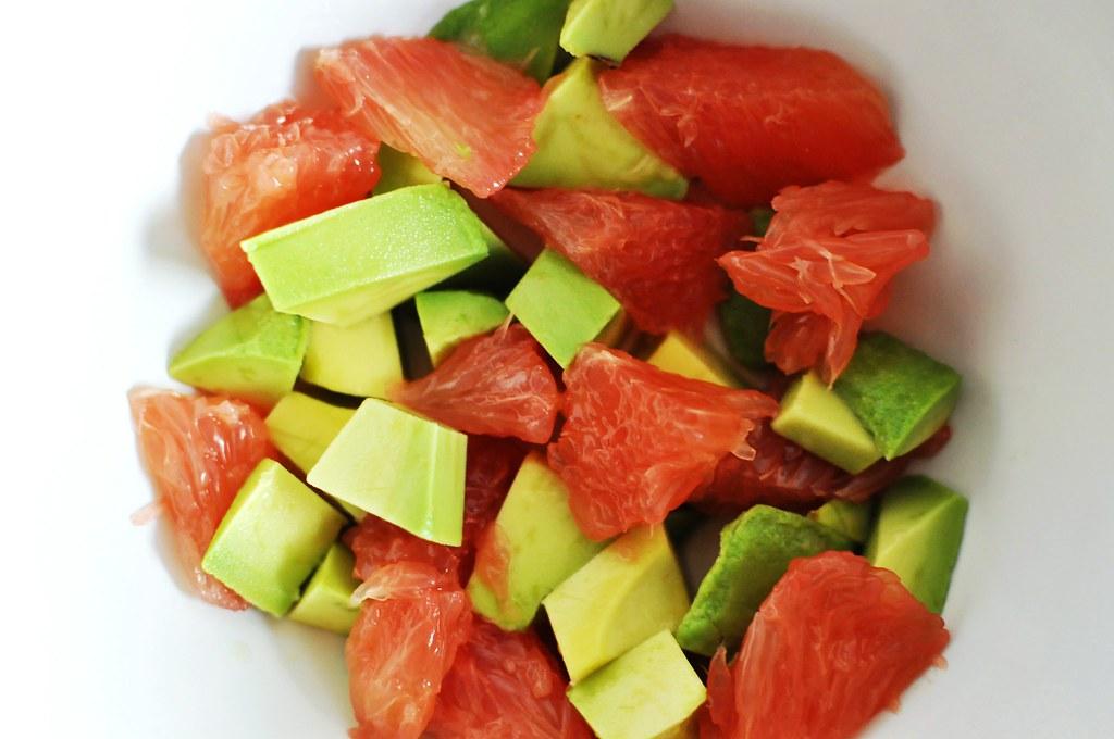 Avocados and grapefruits
