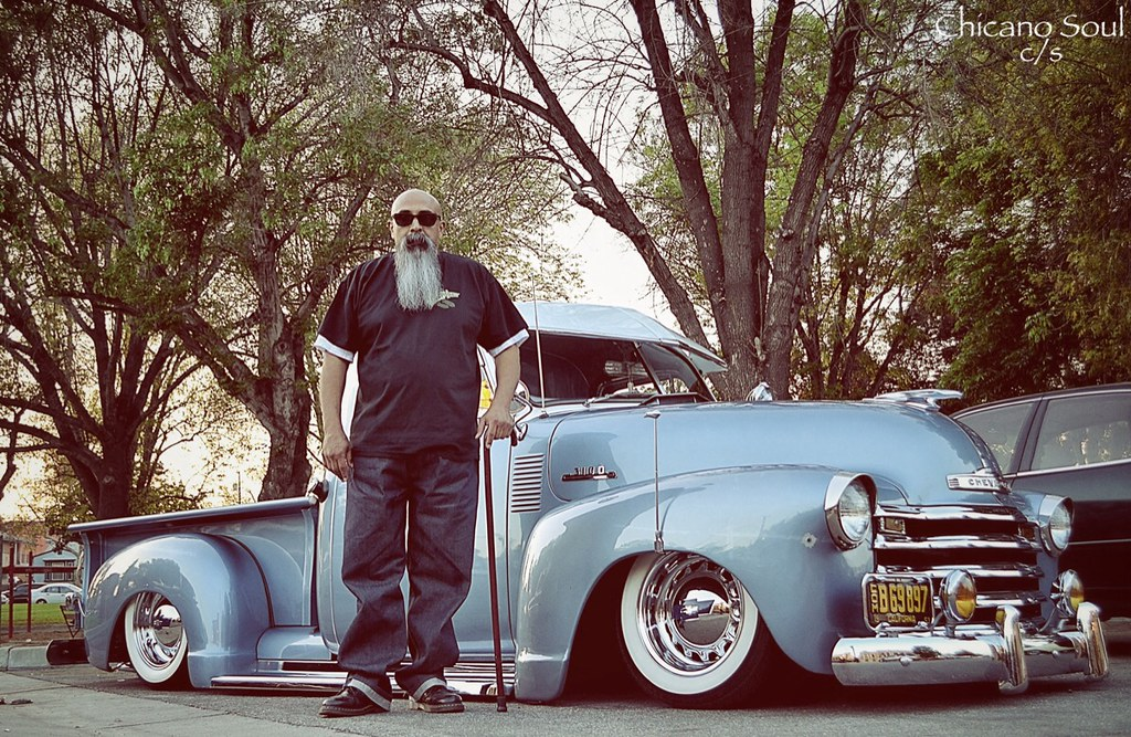 Mike | Mike with a '53 Chevy 3100 pickup | Chicano Soul | Flickr