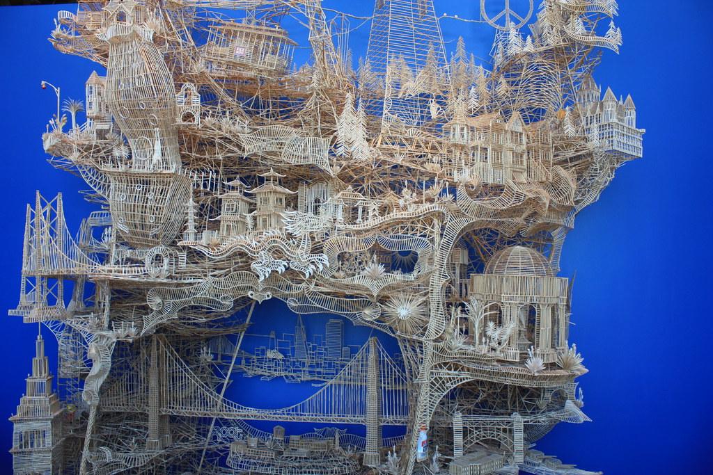 Toothpick Sculpture exploratorium trip 2013 #toothpick #sculpture | createds… | flickr
