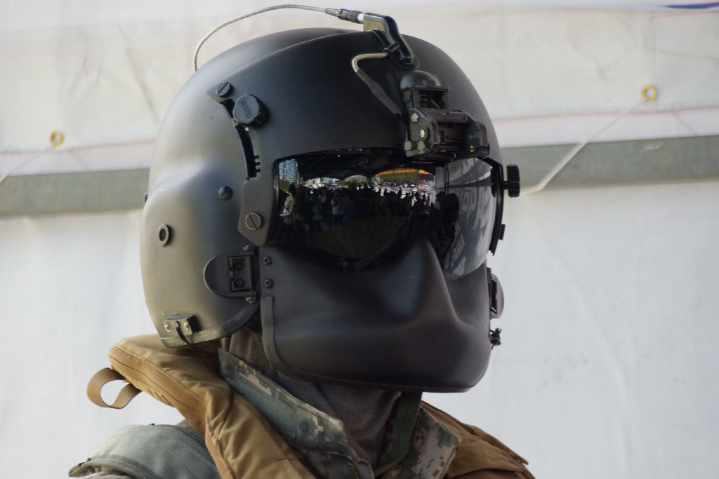 A3 Helmet Level 3 And Pan: US Helicopter Pilot Helmet HGU-56/P