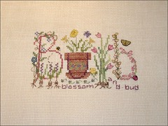Bulb Monthly Musing Cross Stitch