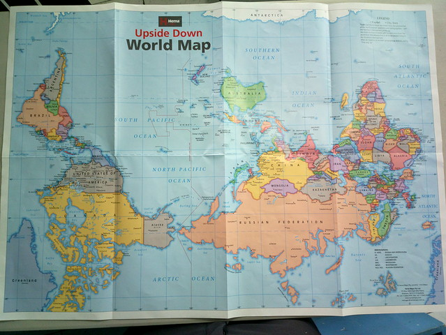 Upside down World Map Flickr Photo Sharing