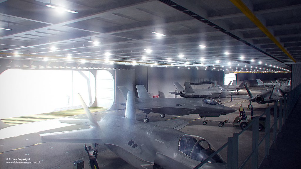 cgi the hangar of hms queen elizabeth a computer