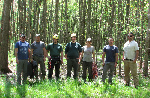 Forest Service smokejumpers and APHIS tree climbers in Ohio