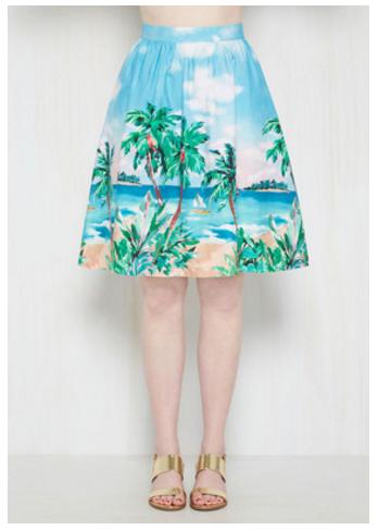 island print skirt