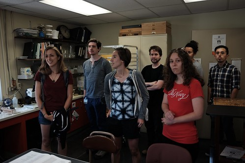 Photo of many entomologists in the Academy of Natural Sciences.