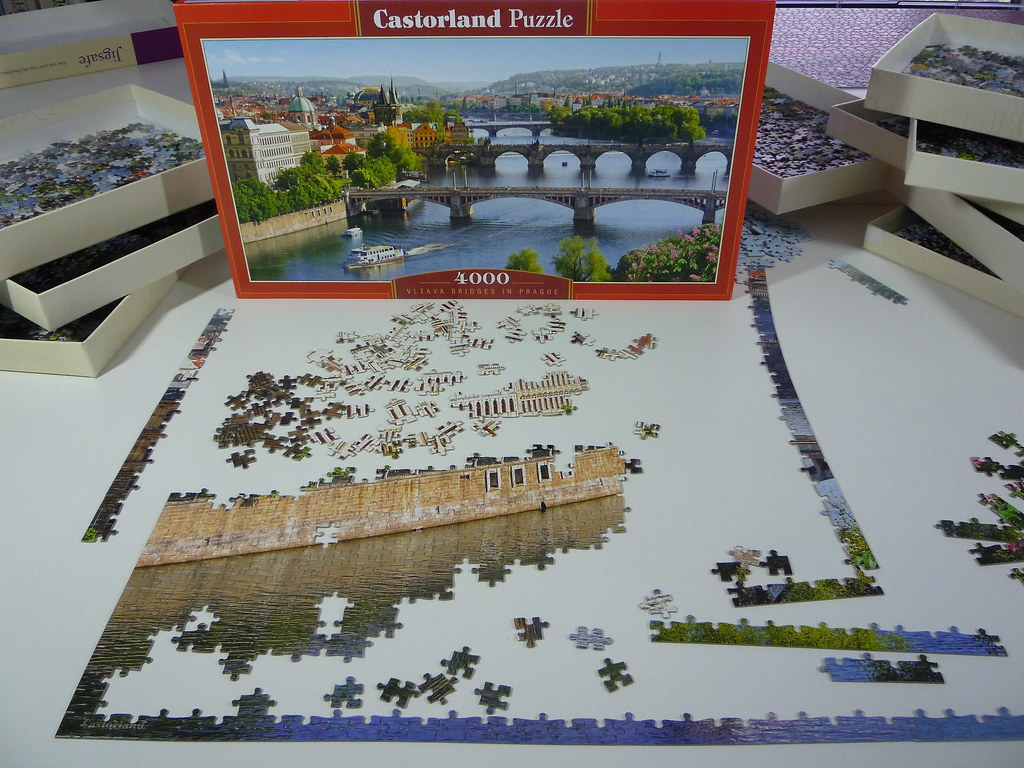 vltava bridges in prague castorland puzzle 4000 pieces flickr. Black Bedroom Furniture Sets. Home Design Ideas