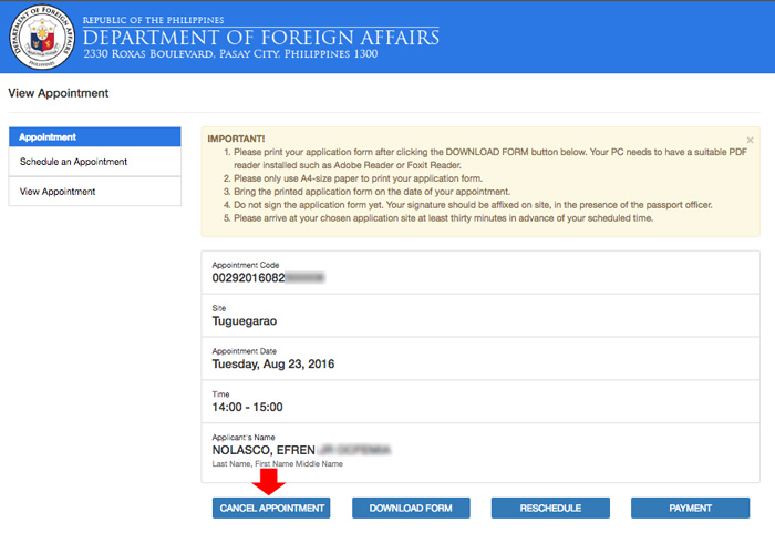 How To Cancel Or Reschedule Passport Appointment Online