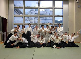 Group photo at Doyukai dojo on Sunday