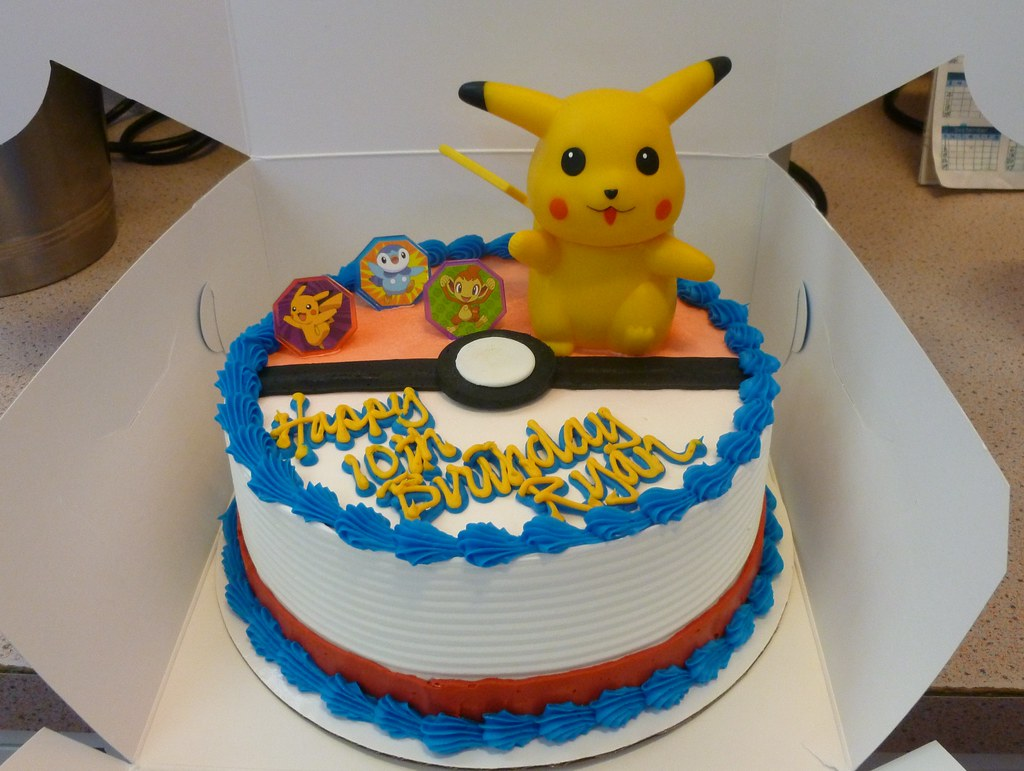 Pokemon Ice Cream Cake Baskin Robbins