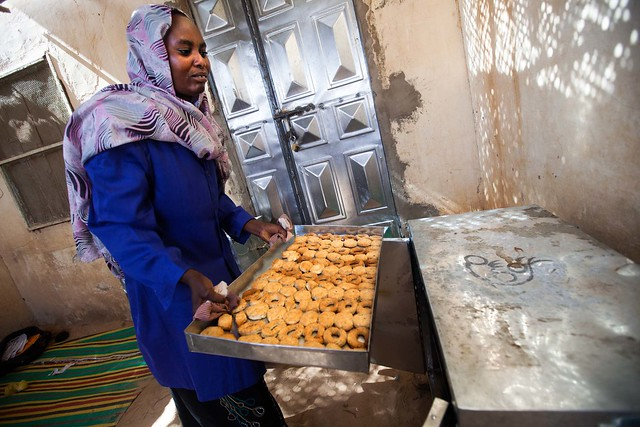 Baking pastries in North Africa