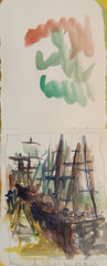 Sketch exchange small adventure River st Nina and Pinta Replica ships 2 by kipbradle