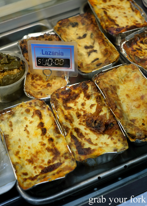 Lazania Greek lasagne at Lamia Super Deli during the Community Kouzina Marrickville Food Tour for Open Marrickville