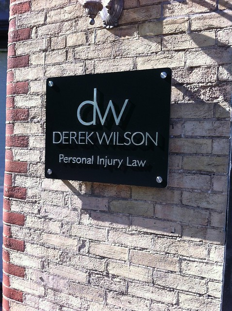 Derek wilson law office outdoor sign flickr photo sharing for Exterior office signs