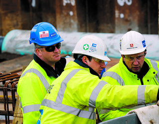 Costain construction workers | by bisgovuk