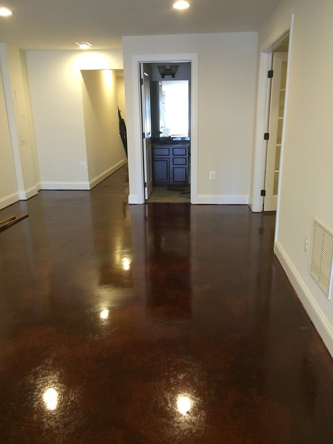 stained concrete basement in charlottesville va flickr photo
