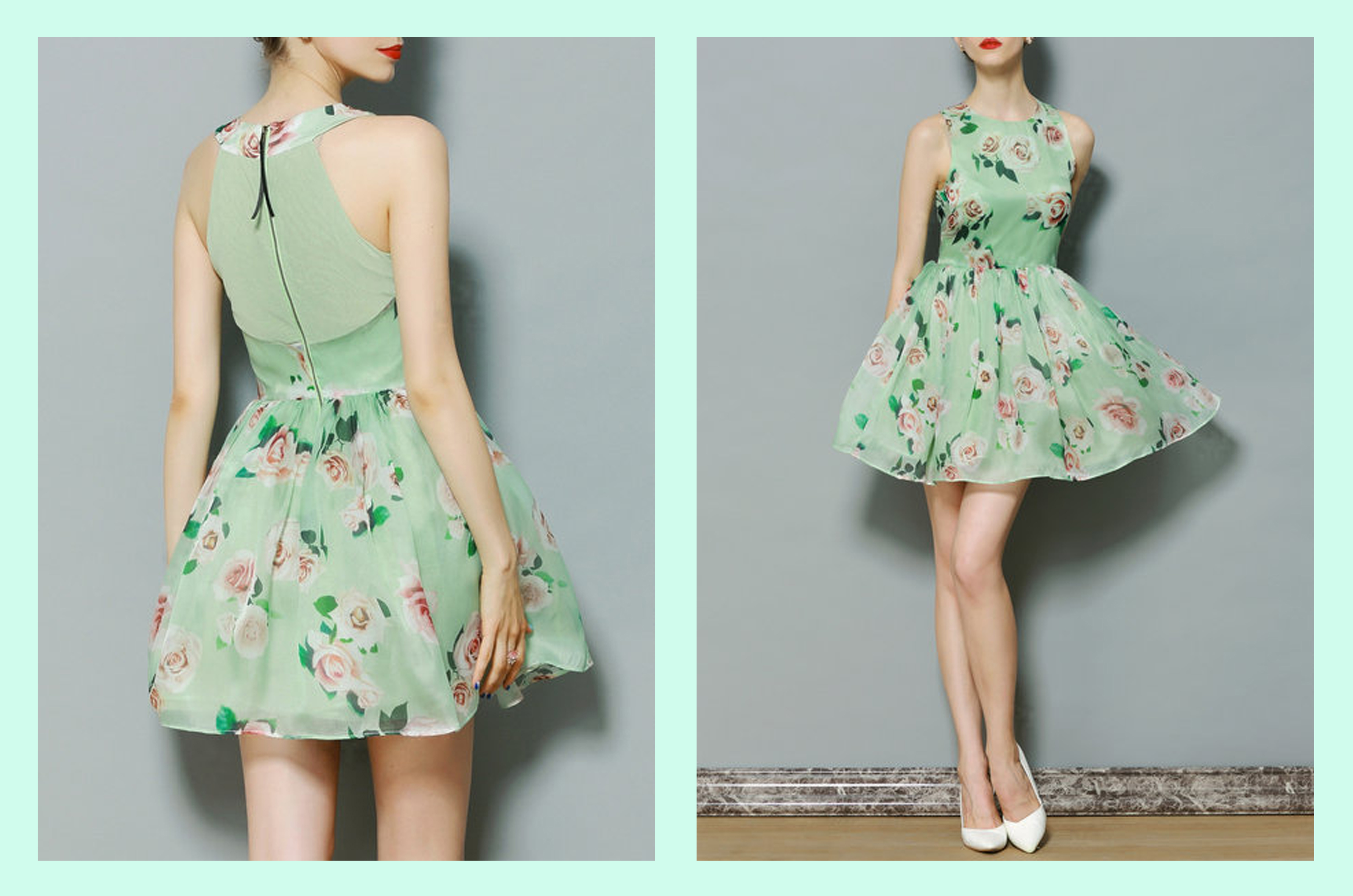 floral mint stylewe dress