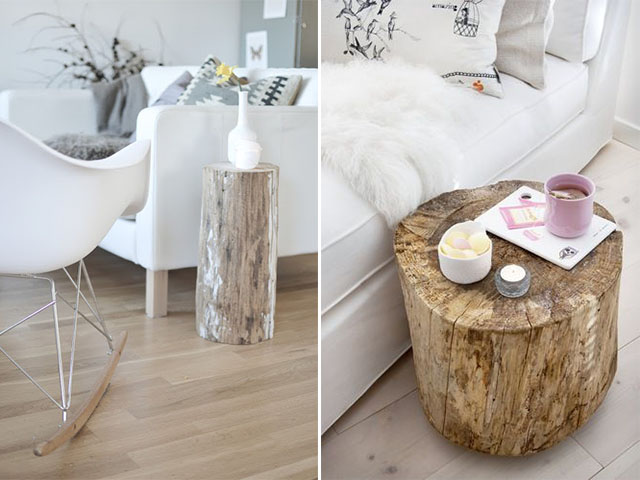 diy inspiration tree stump coffee tables a pair and a spar ...