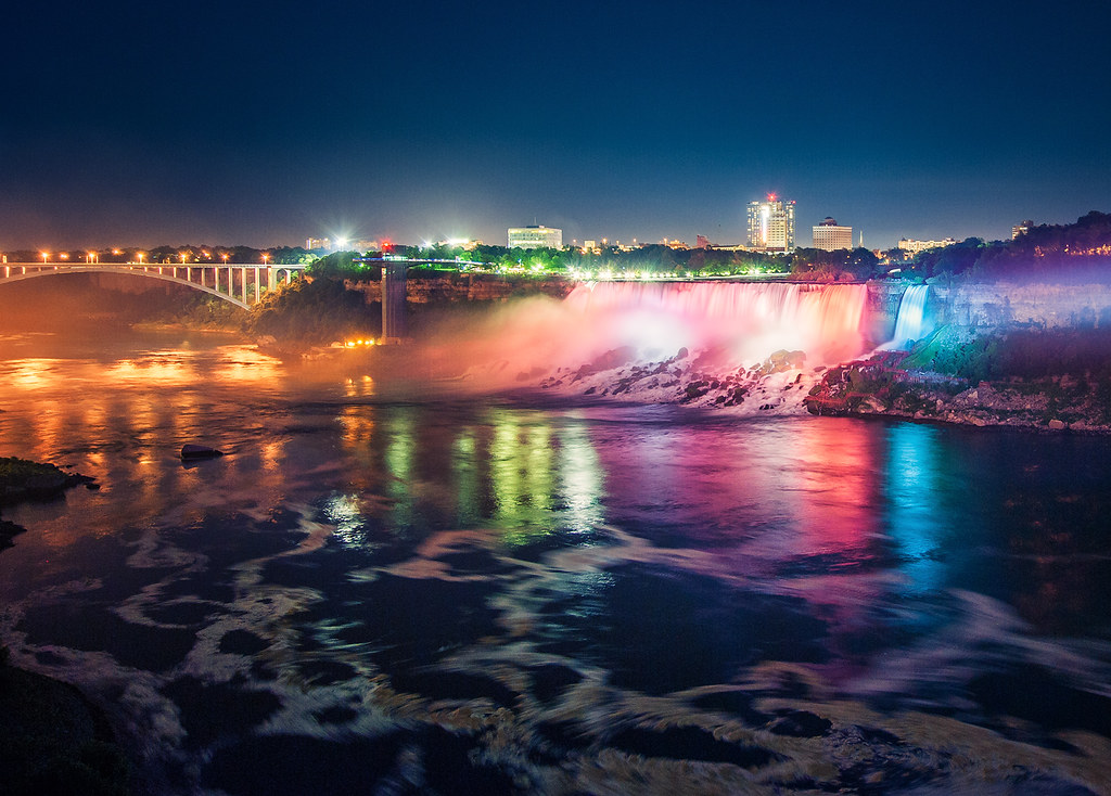 Niagara Falls At Night Another One From My North America