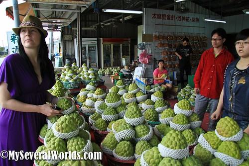 Custard Apple Stand in Taiwan