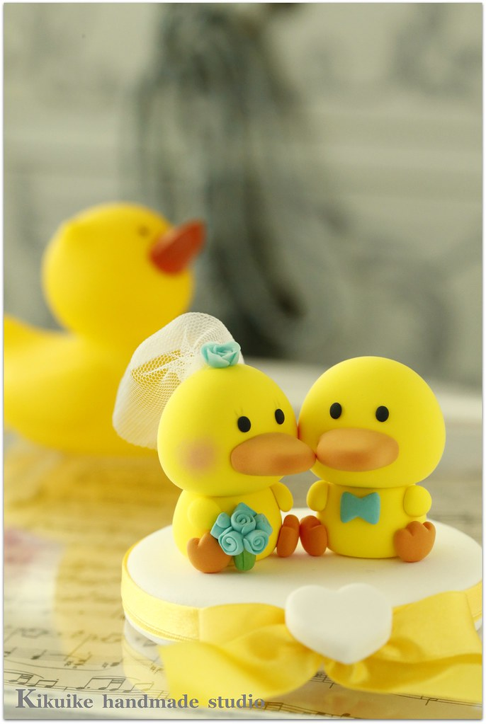 rubber duck wedding cake toppers wedding cake topper handmade ducks cake topper flickr 19439