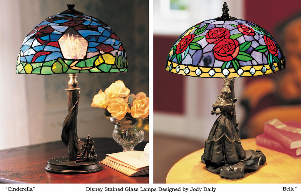 Cinderella And Belle Stained Glass Lamps | Commemorative Lamu2026 | Flickr