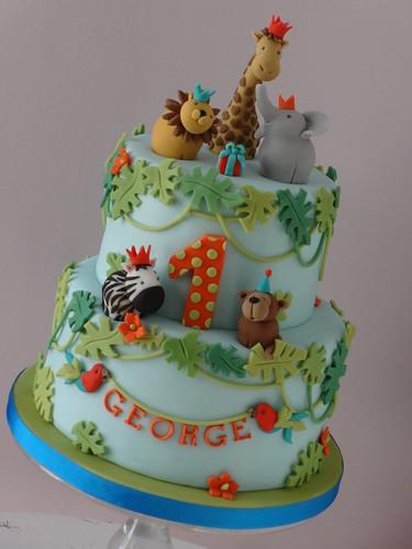 Cake Designs Jungle : GEORGE S JUNGLE SAFARI CAKE Flickr - Photo Sharing!
