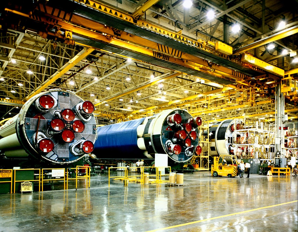 First Stages Of The Saturn Ib Rockets At Michoud Assembly