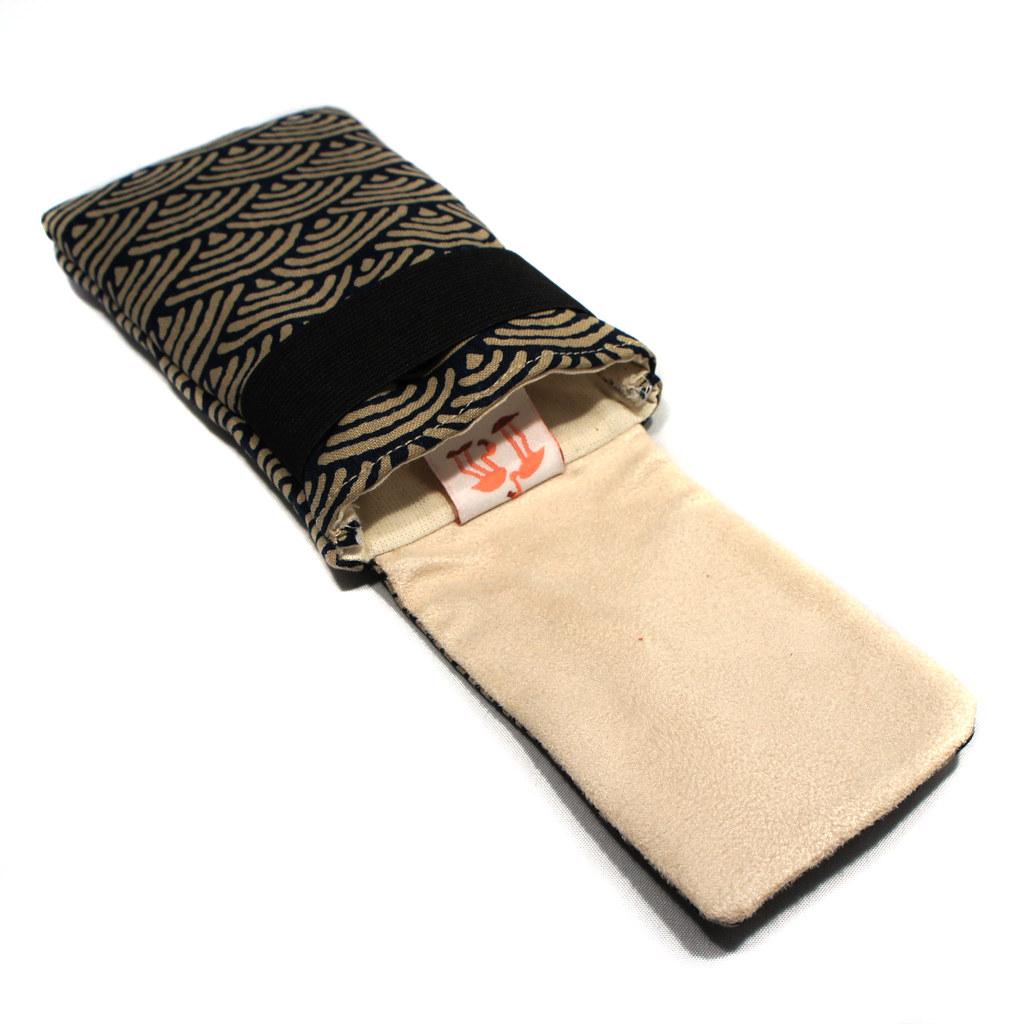 Housse pour smartphone en tissu japonais housse pour - Penderie avec housse en tissu ...