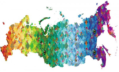 Sochi map - quilted