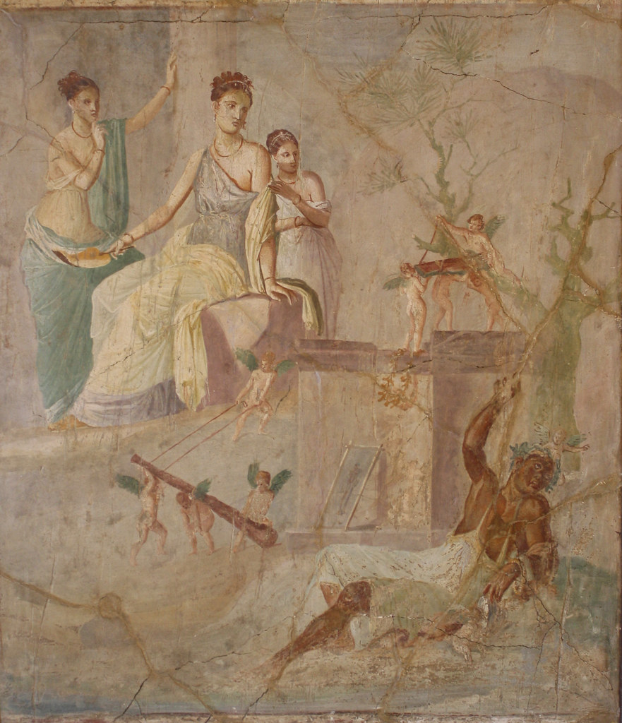 A Roman Wall Painting In The Fourth Style Hercules And Om -6949