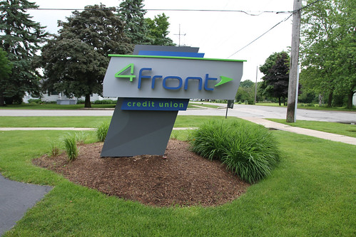 Precast Sign Foundations Support this Credit Union's Signage