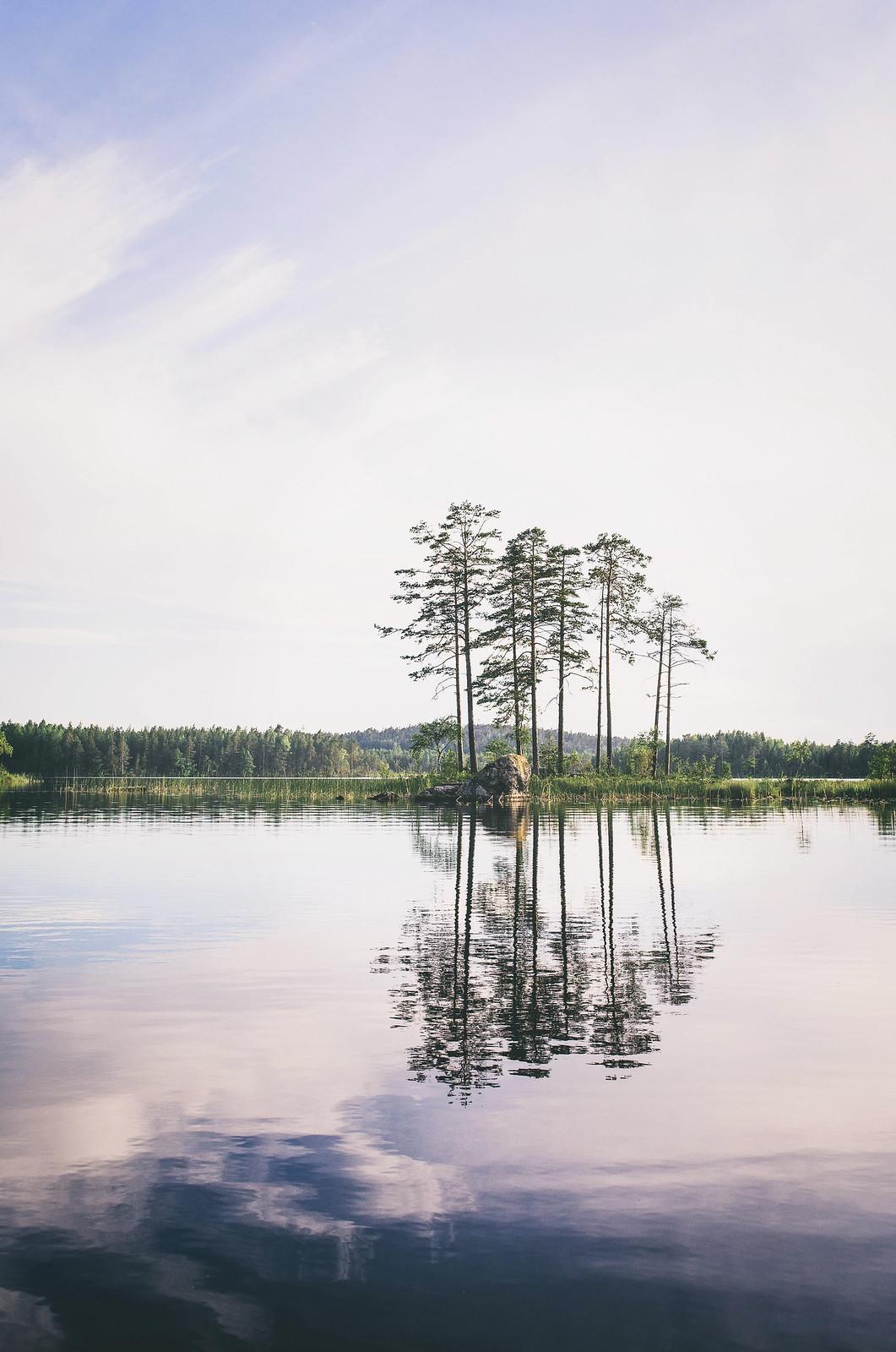 Sjön + Kvällssol <3