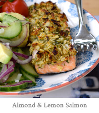 Almond & Lemon Crusted Salmon