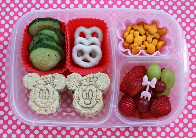 minnie mouse bento box school lunch flickr photo sharing. Black Bedroom Furniture Sets. Home Design Ideas
