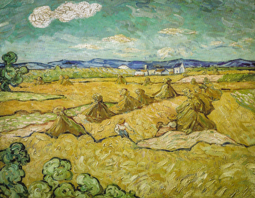 Vincent van Gogh (formely attributed to..) - Wheat Field w ...