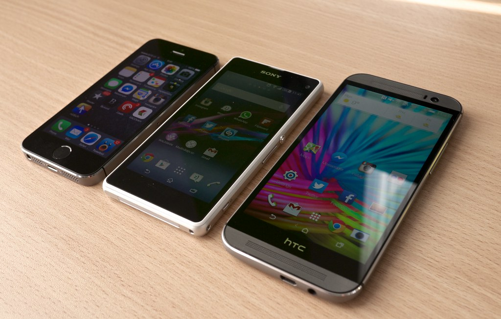 htc one m8 vs sony xperia z1 compact vs iphone 5s flickr