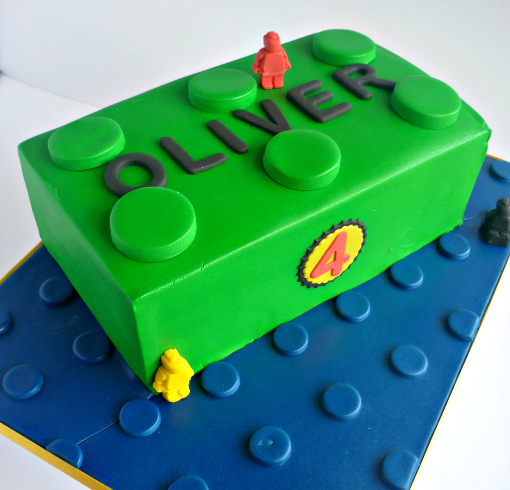 Lego Blocks Cake Design : Green lego brick cake Liana Stevens Flickr