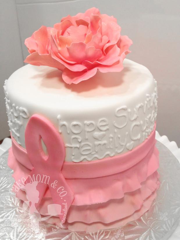 Pink Ribbon Breast Cancer Survivor Cake This Pink Ribbon