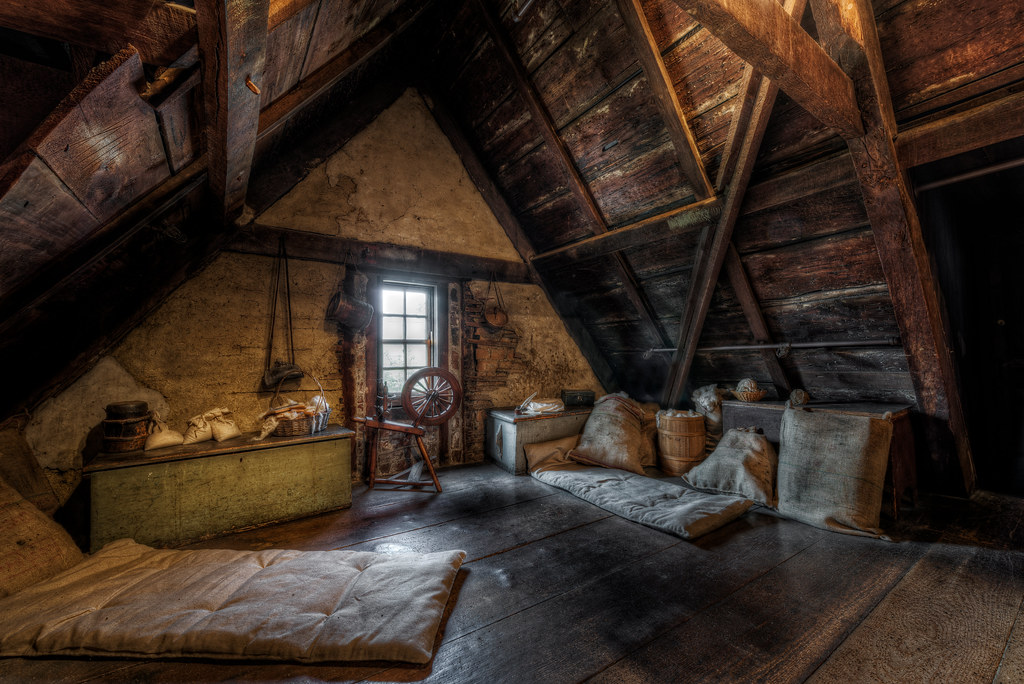 The Attic The House Of The Seven Gables Salem Ma August