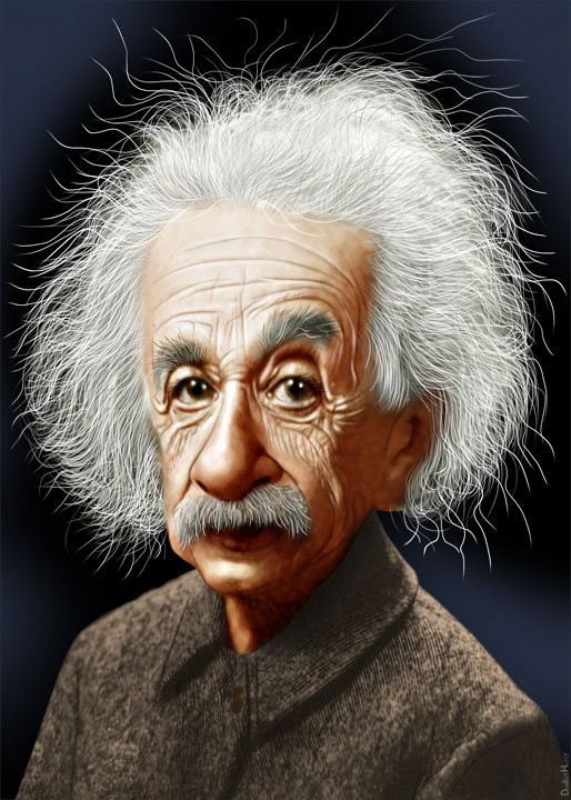 Albert Einstein - Caricature | Albert Einstein was a
