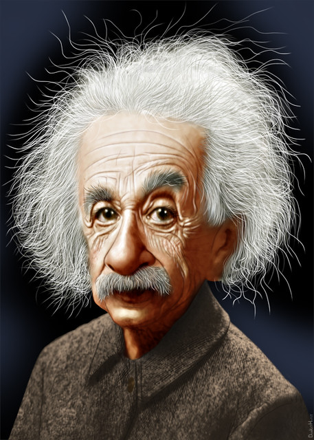 albert einstein caricature flickr photo sharing