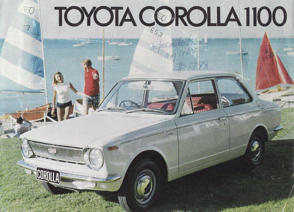 1968 Toyota Corolla Brochure Australia Covers The
