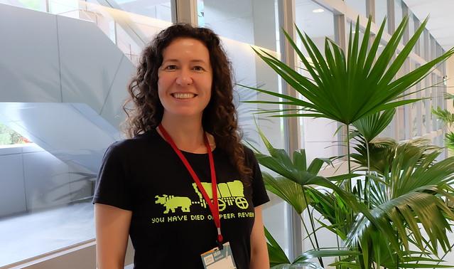 「開放科技公共實驗室」社區發展部門主任莉茲巴瑞(Liz Barry)攝影:陳文姿