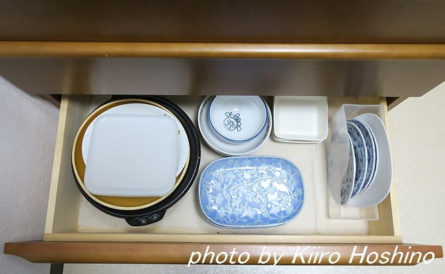 食器棚整理、引き出し4段目